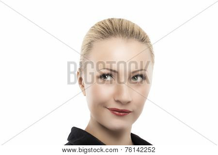 Calm Thinking Caucasian Woman