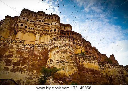 Mehrangarh Fort Ramparts Horizontal
