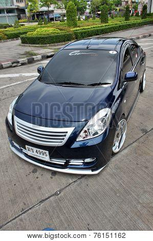 Blue ECO Car Sedan in VIP Style