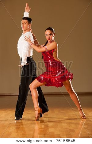 latino dance couple in action - dancing wild samba poster
