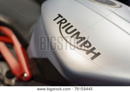 Close-up Of Triumph Logo Motorcycle