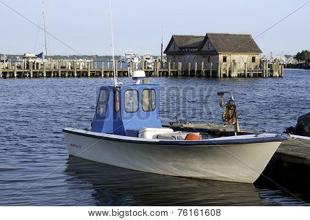 Fishing Boat In Bay Harbor Marina Montauk New York Usa The Hamptons