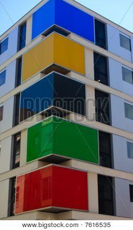 Multicolour Apartment Building
