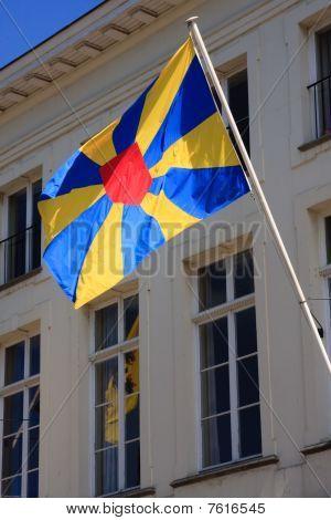 Flag In Bruges Belgium
