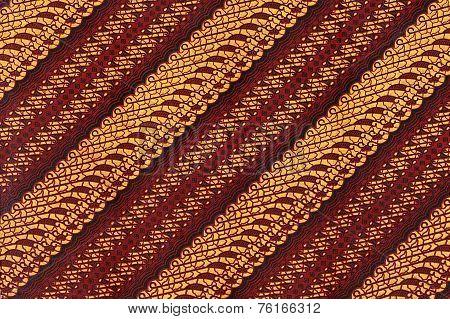 Native Javanese Parang Batik Pattern fabric Scanned poster