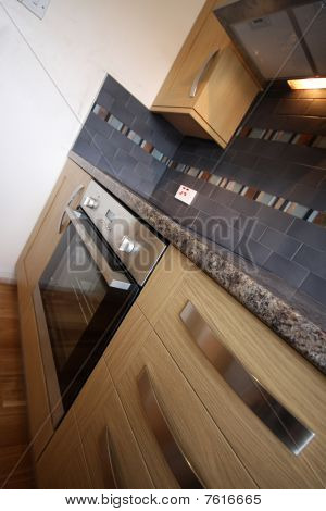House Interior - Angled Kitchen