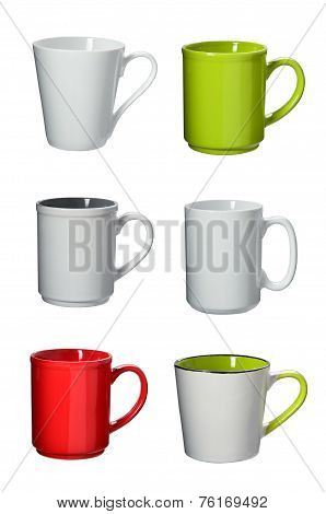 Cup Collection On Background