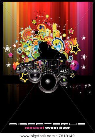 Discoteque Flyer Background