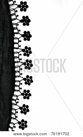 Cheesecloth And Lace Background With Copyspace