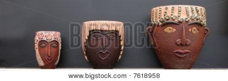 Three Head Pots