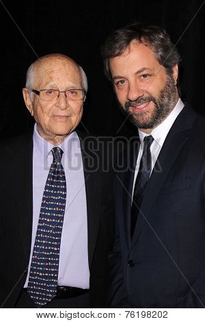LOS ANGELES - NOV 11:  Norman Lear, Judd Apatow at the PEN Center USA 24th Annual Literary Awards at the Beverly Wilshire Hotel on November 11, 2014 in Beverly Hills, CA