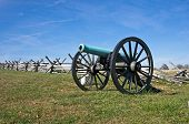 Civil War cannon in the afternoon sun of a warm autumn day. poster