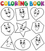 Coloring book various shapes 1 - eps10 vector illustration. poster