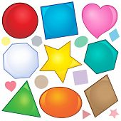 Various shapes theme image 2 - eps10 vector illustration. poster
