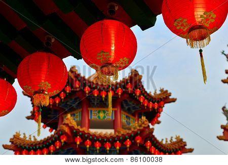 Red Oriental Lanterns