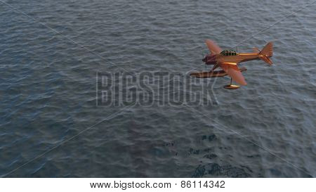 hydroplane over the ocean