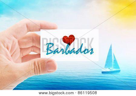 Summer Vacation On Barbados Beach