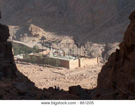 A view of St Catherine's Monastery, Sinai, Egypt