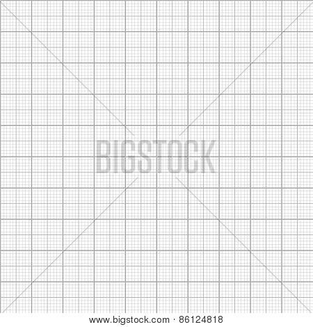 Vector graph millimeter paper seamless pattern