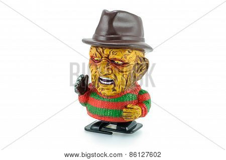 Freddy Krueger Wind Up Toy Characters From A Nightmare On Elm Street Series.