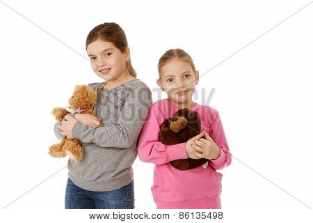 Sisters With Teddybears