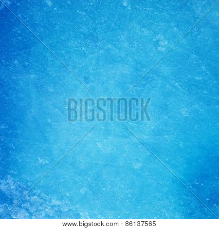 Textured ice blue frozen rink winter background poster