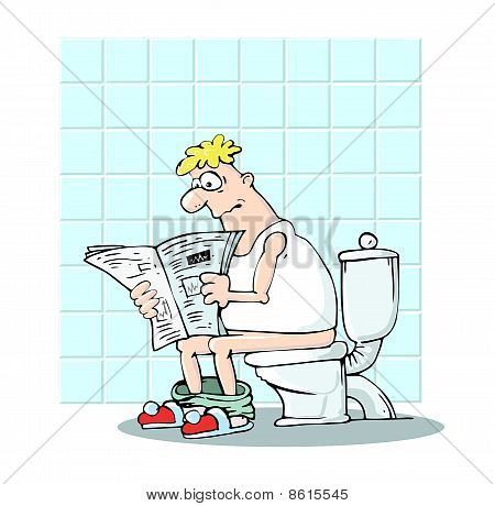 Man In Toilet
