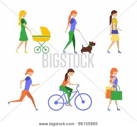 Healthy lifestyle. Physical activity flat  of extremely vigorously moderately active and sedentary
