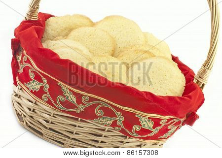 Basket Full Of Christmas Sugar Cookies