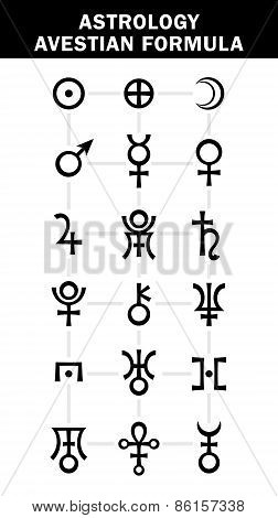 Astrology : Avestian Planets Formula