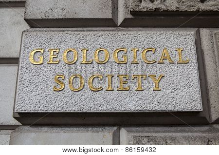 The Geological Society of London located on Piccadilly. poster