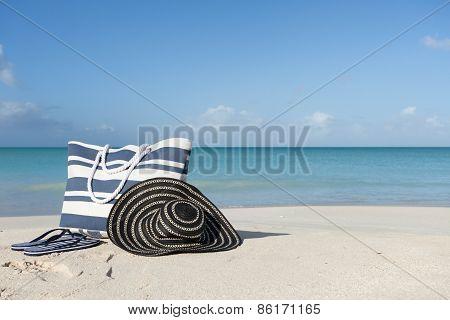 Beach Gear On The Sand