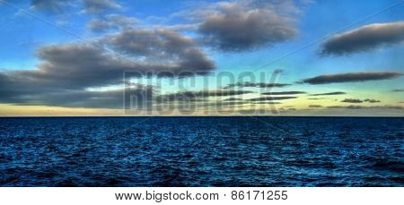 The sky and clouds Bering sea