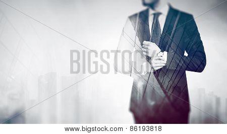 Double Exposure Business Concept