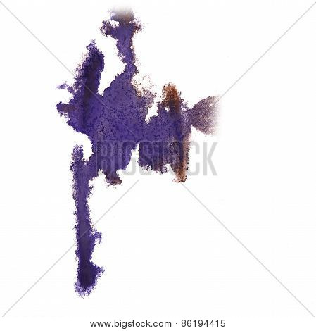 abstract lilac hand drawn watercolor blot insult Rorschach psych
