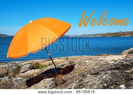 Swedish Coast With Welcome