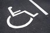 Parking place reserved for disabled people. poster