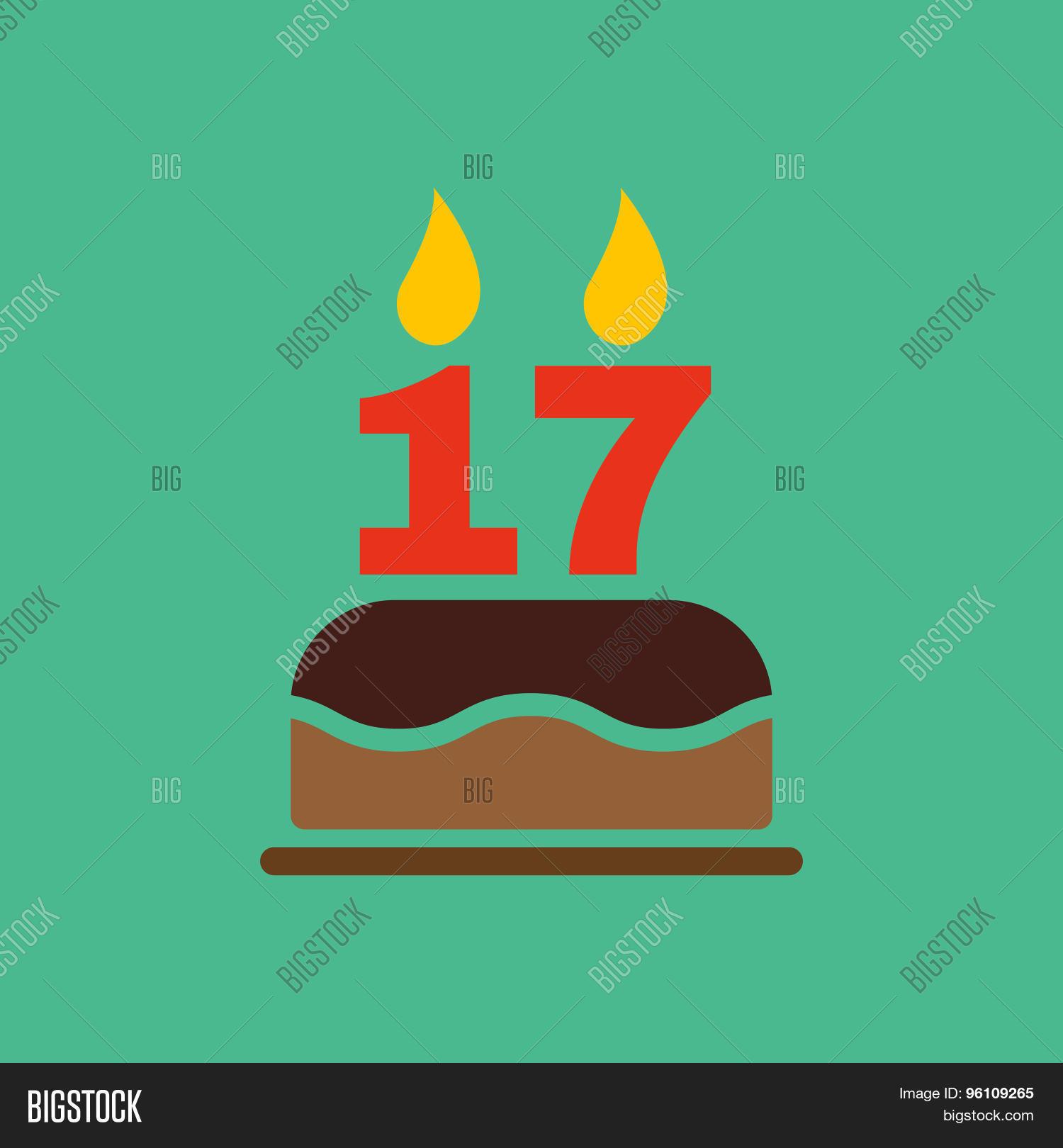 Cake With Seventeen Candles Cartoon