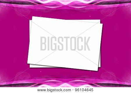 Paper On Violet Pink Background