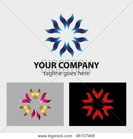 Hands taking care logo vector design template.