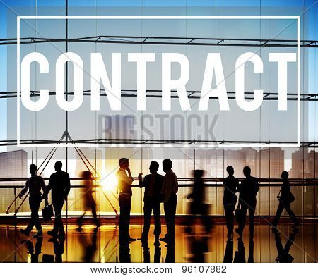 Contract Deal Agreement Negotiation Commitment Concept poster