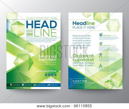 Abstract Polygon Design Vector Template Layout For Magazine Brochure Flyer Booklet Cover