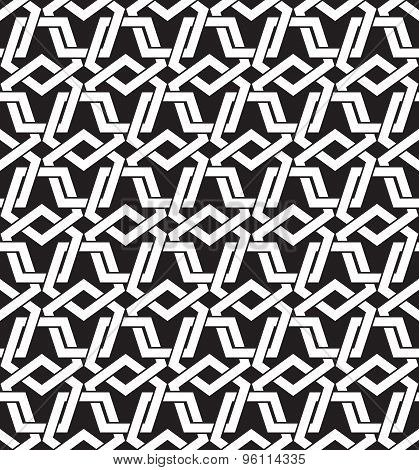 Seamless pattern of intersecting pentagons