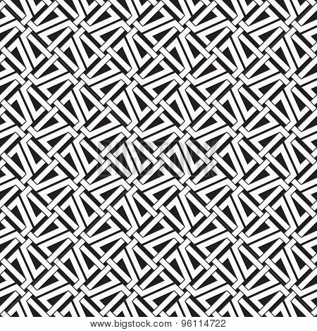 Seamless pattern of intersecting trapezes