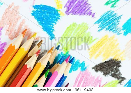 Colored Pencils Background