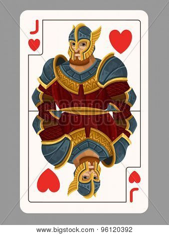 Jack of hearts playing card. Vector illustration