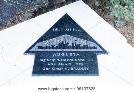 Utah Beach Plaque Flag Ship Western Naval