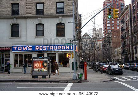 Tom's Restaurant from Seinfeld - Famous diner in Manhattan