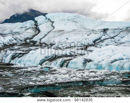 Alaska melting glacier