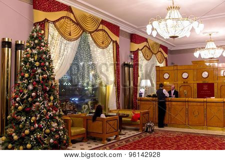 Interior of National Hotel in Moscow